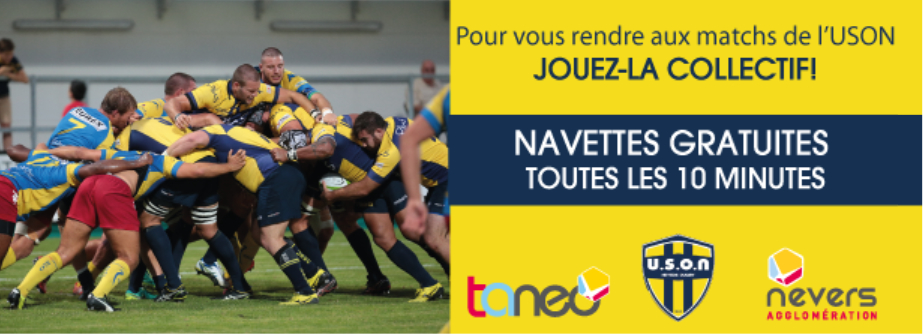Navettes gratuites USON rugby